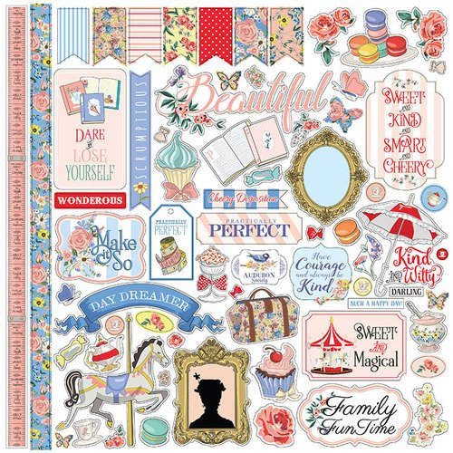 Carta Bella Paper - Practically Perfect Collection - 12 x 12 Cardstock Stickers