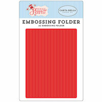 Carta Bella Paper - Practically Perfect Collection - A2 Embossing Folder - Perfect Stripe