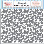 Carta Bella Paper - Practically Perfect Collection - 6 x 6 Stencil - Butterfly Garden