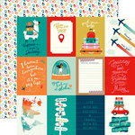 Carta Bella Paper - Pack Your Bags Collection - 12 x 12 Double Sided Paper - 3 x 4 Journaling Cards