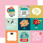 Carta Bella Paper - Pack Your Bags Collection - 12 x 12 Double Sided Paper - 4 x 4 Journaling Cards