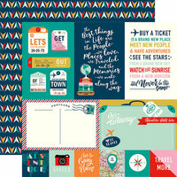 Carta Bella Paper - Pack Your Bags Collection - 12 x 12 Double Sided Paper - Journaling Cards