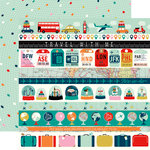 Carta Bella Paper - Pack Your Bags Collection - 12 x 12 Double Sided Paper - Border Strips