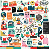 Carta Bella Paper - Pack Your Bags Collection - 12 x 12 Cardstock Stickers