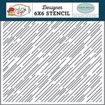 Carta Bella Paper - Pack Your Bags Collection - 6 x 6 Stencil - Destination Stripe