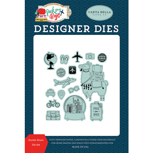 Carta Bella Paper - Pack Your Bags Collection - Designer Dies - Scenic Route