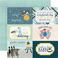 Carta Bella Paper - Rock-A-Bye Baby Boy Collection - 12 x 12 Double Sided Paper - 4 x 6 Journaling Cards