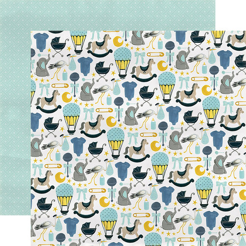 Carta Bella Paper - Rock-A-Bye Baby Boy Collection - 12 x 12 Double Sided Paper - Bundle of Joy
