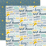 Carta Bella Paper - Rock-A-Bye Baby Boy Collection - 12 x 12 Double Sided Paper - Sweet Dreams