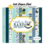 Carta Bella Paper - Rock-A-Bye Baby Boy Collection - 6 x 6 Paper Pad
