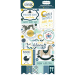 Carta Bella Paper - Rock-A-Bye Baby Boy Collection - Chipboard Stickers