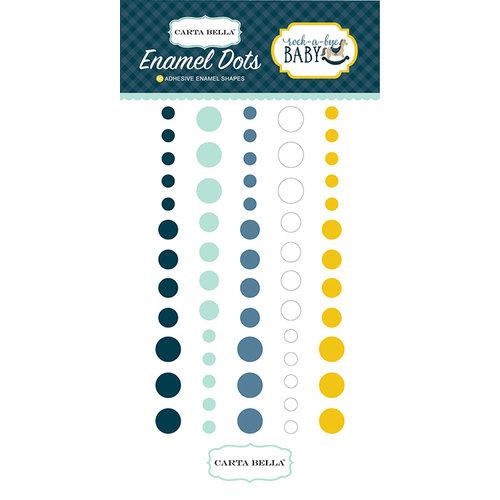 Carta Bella Paper - Rock-A-Bye Baby Boy Collection - Enamel Dots