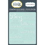 Carta Bella Paper - Rock-A-Bye Baby Boy Collection - Embossing Folder - Little One Boy