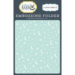 Carta Bella Paper - Rock-A-Bye Baby Boy Collection - Embossing Folder - Stars and Moon