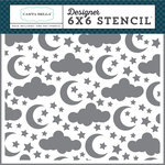 Carta Bella Paper - Rock-A-Bye Baby Boy Collection - 6 x 6 Stencil - Sleep Tight
