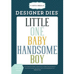 Carta Bella Paper - Rock-A-Bye Baby Boy Collection - Designer Dies - Handsome Little One Word