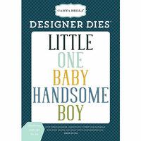Carta Bella Paper - Rock-A-Bye Baby Boy Collection - Designer Dies - Handsome Little One Word