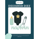 Carta Bella Paper - Rock-A-Bye Baby Boy Collection - Designer Dies - Newborn Necessities