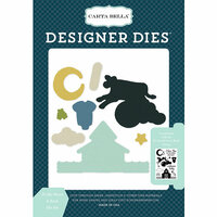 Carta Bella Paper - Rock-A-Bye Baby Boy Collection - Designer Dies - To The Moon and Back