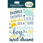 Carta Bella Paper - Rock-A-Bye Baby Boy Collection - Enamel Shapes