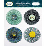 Carta Bella Paper - Rock-A-Bye Baby Boy Collection - Mini Paper Fans