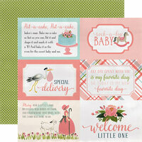 Carta Bella Paper - Rock-A-Bye Baby Girl Collection - 12 x 12 Double Sided Paper - 4 x 6 Journaling Cards