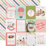 Carta Bella Paper - Rock-A-Bye Baby Girl Collection - 12 x 12 Double Sided Paper - 3 x 4 Journaling Cards