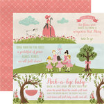 Carta Bella Paper - Rock-A-Bye Baby Girl Collection - 12 x 12 Double Sided Paper - Girl Nursery Rhymes