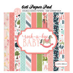 Carta Bella Paper - Rock-A-Bye Baby Girl Collection - 6 x 6 Paper Pad