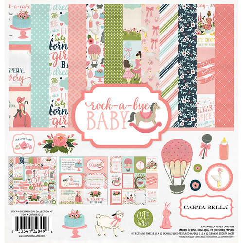 Carta Bella Paper - Rock-A-Bye Baby Girl Collection - 12 x 12 Collection Kit