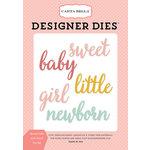 Carta Bella Paper - Rock-A-Bye Baby Girl Collection - Designer Dies - Sweet Little Girl Word
