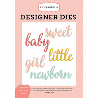Carta Bella Paper - Rock-A-Bye Baby Girl Collection - Designer Dies - Sweet Little Girl Word
