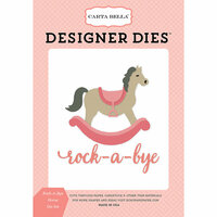 Carta Bella Paper - Rock-A-Bye Baby Girl Collection - Designer Dies - Rock-A-Bye Horse