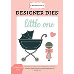 Carta Bella Paper - Rock-A-Bye Baby Girl Collection - Designer Dies - Carriage and Rattle