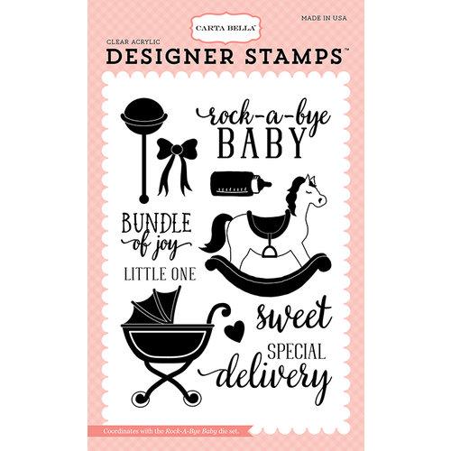 Carta Bella Paper Rock A Bye Baby Girl Rock A Bye Baby Stamps