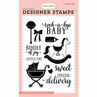 Carta Bella Paper - Rock-A-Bye Baby Girl Collection - Clear Photopolymer Stamps - Rock-A-Bye Baby