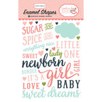 Carta Bella Paper - Rock-A-Bye Baby Girl Collection - Enamel Shapes