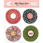 Carta Bella Paper - Rock-A-Bye Baby Girl Collection - Mini Paper Fans