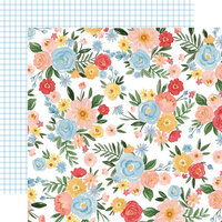 Carta Bella Paper - Summer Collection - 12 x 12 Double Sided Paper - Summer Day Floral