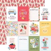 Carta Bella Paper - Summer Collection - 12 x 12 Double Sided Paper - 3 x 4 Journaling Cards