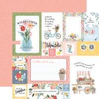 Carta Bella Paper - Summer Collection - 12 x 12 Double Sided Paper - Multi Journaling Cards