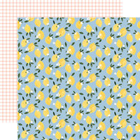 Carta Bella Paper - Summer Collection - 12 x 12 Double Sided Paper - Lemonade Squeeze