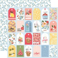 Carta Bella Paper - Summer Collection - 12 x 12 Double Sided Paper - So Sweet Tags