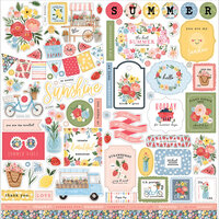 Carta Bella Paper - Summer Collection - 12 x 12 Cardstock Stickers - Elements