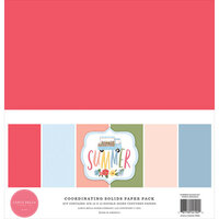 Carta Bella Paper - Summer Collection - 12 x 12 Paper Pack - Solids