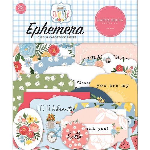 Carta Bella Paper - Summer Collection - Ephemera