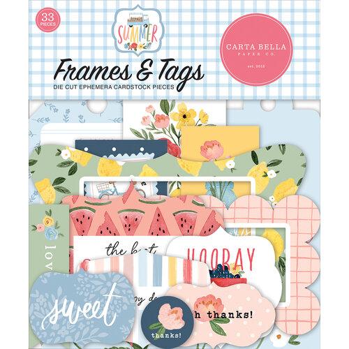 Carta Bella Paper - Summer Collection - Ephemera - Frames and Tags