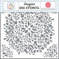 Carta Bella Paper - Summer Collection - 6 x 6 Stencil - Floral Bunch