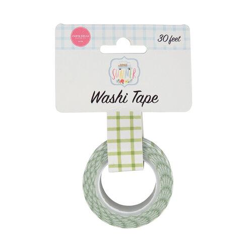 Carta Bella Paper - Summer Collection - Washi Tape - Sunshine Plaid