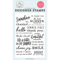 Carta Bella Paper - Summer Collection - Clear Photopolymer Stamps - Summer Sentiments